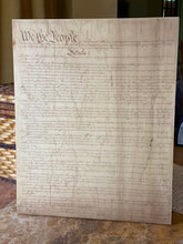 The United States Constitution Printed on Wood