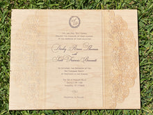 Upload your beautiful wedding invitation and let us print it on wood today!