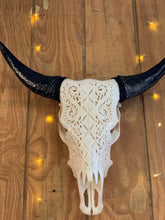 Hand Carved Cow Skulls