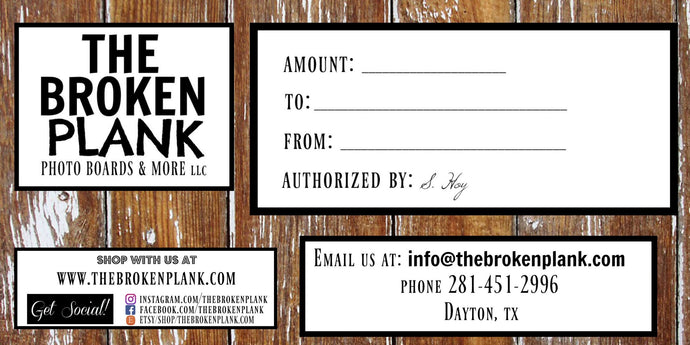 The Broken Plank Gift Card