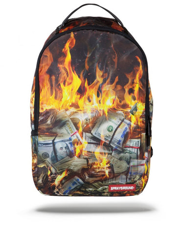 Sprayground Fire Money Backpack