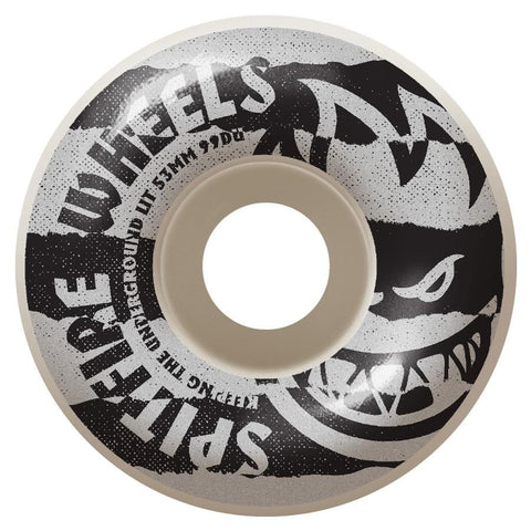 Spitfire Shredded White 99D Wheels (53mm)