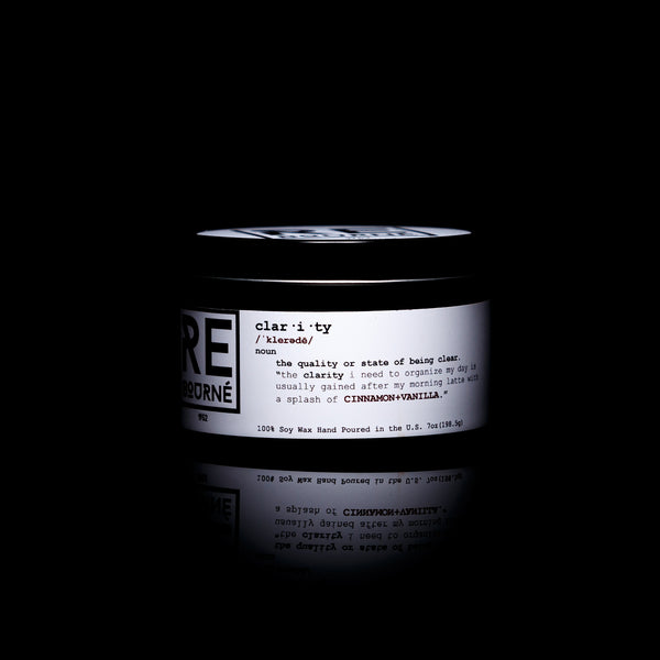 "CINNAMON + VANILLA Scented Candle ""CLARITY"" - Rebourne Body + Home"