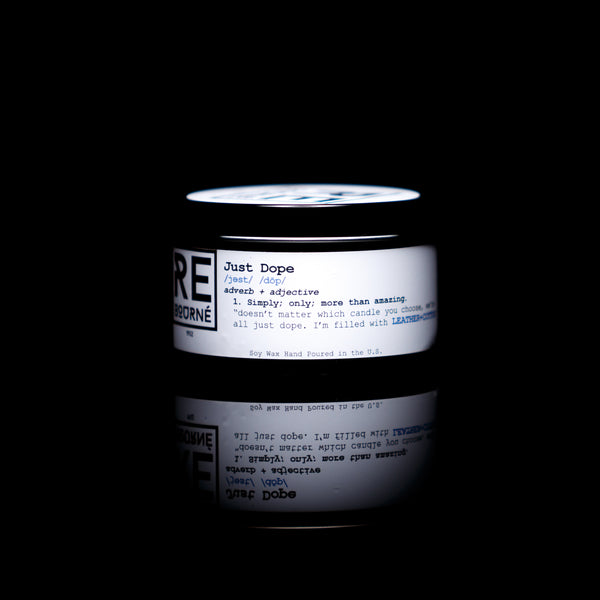 "LEATHER + COTTON Scented Candle ""Just Dope"" - Rebourne Body + Home"
