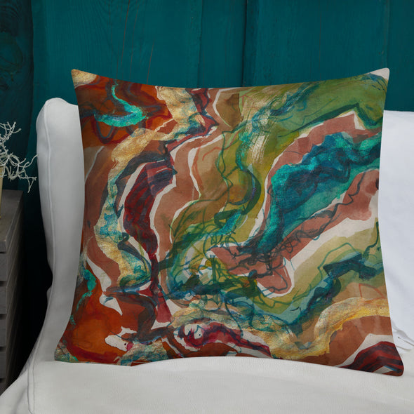 Premium Pillow w/ artwork by Angelique Catero