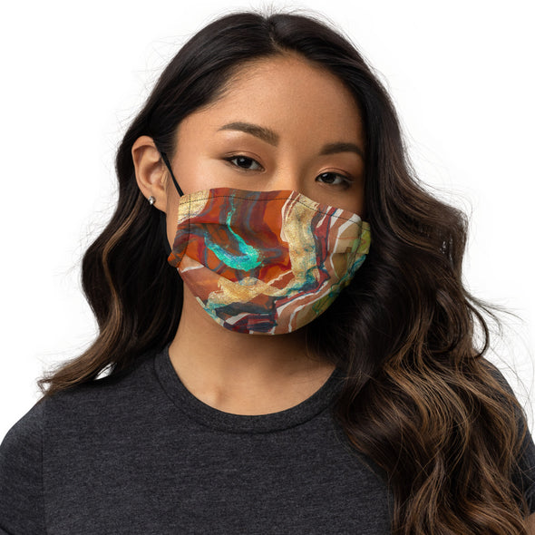 Premium face mask w/ artwork by Angelique Catero