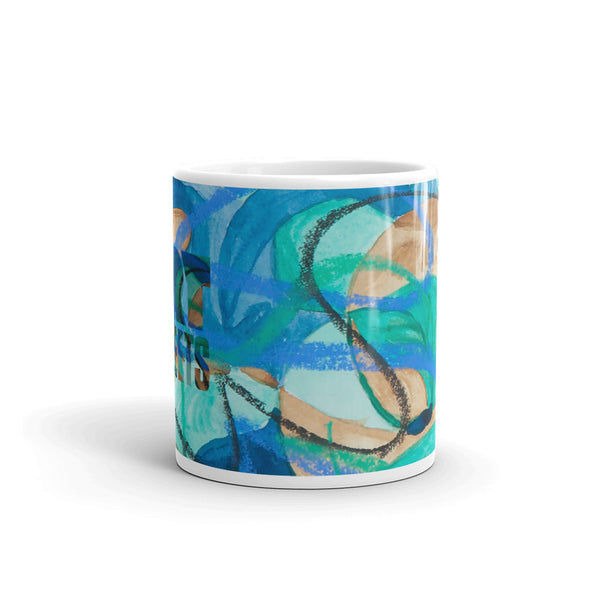 Mug w/ artwork by Rose Ann Ortiz