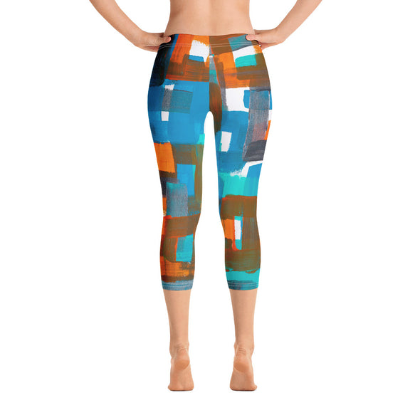 Capri Leggings w/ artwork by Marilyn Shwartz