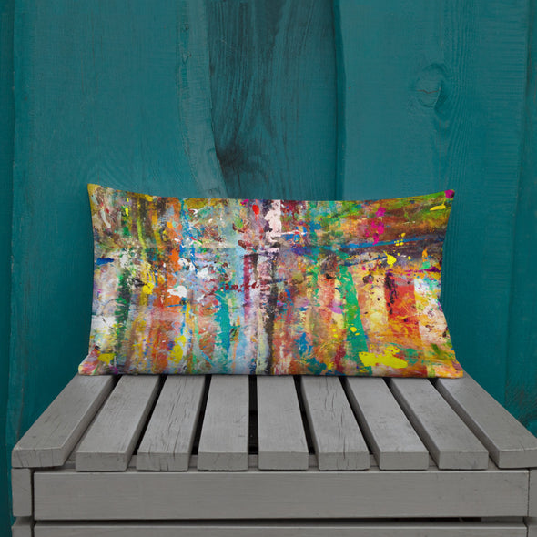 AFTS Artists' Studio Drop-cloth Pillow for Deck and Patio