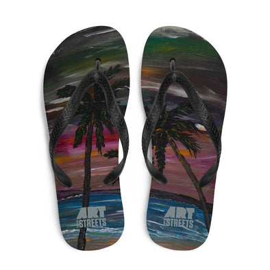 Flip-Flops w/ artwork by John Monbelly