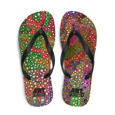 Flip-Flops w/ artwork by Teresa Ables
