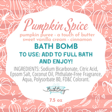 Load image into Gallery viewer, PUMPKIN SPICE BATH BOMB