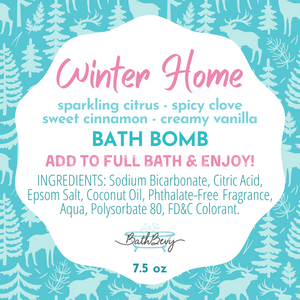 WINTER HOME BATH BOMB