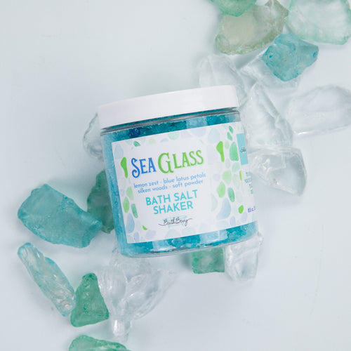 SEA GLASS BATH SALT SHAKER