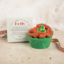 Load image into Gallery viewer, HOLLY BATH BOMB CUPCAKE