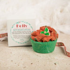 HOLLY BATH BOMB CUPCAKE