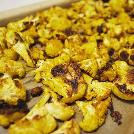 Golden Root Turmeric Roasted Cauliflower