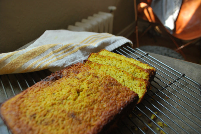 Gluten Free Golden Root Turmeric Lemon Poppyseed Bread