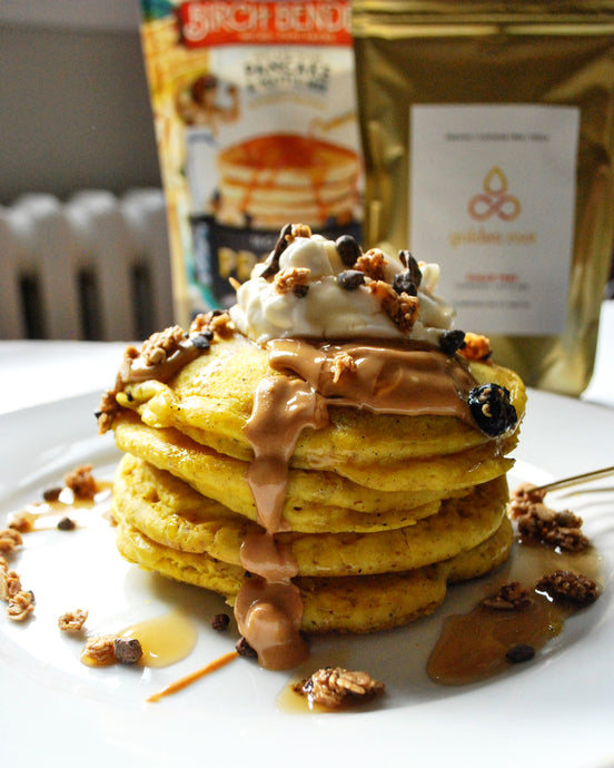 Golden Root Turmeric Protein Pancakes