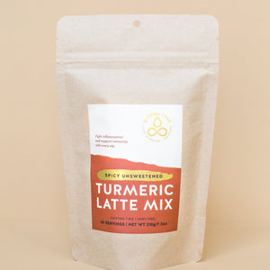 Spicy Unsweetened Turmeric Latte Mix - 30 Serving Standup Pouch - Handshake