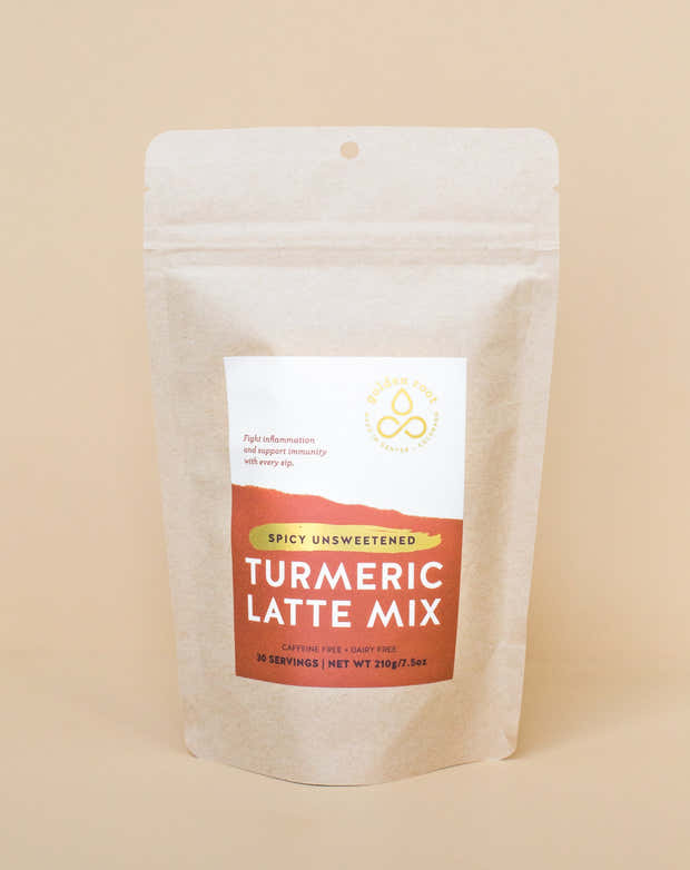 Spicy Unsweetened Turmeric Latte Mix - 30 Serving Standup Pouch - Handshake 1