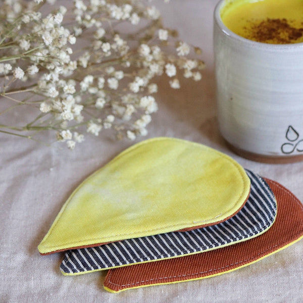 Turmeric Dyed Coasters