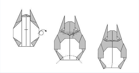 How to make Origami Totoro by Folding 2