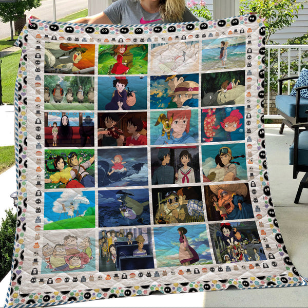 Studio Ghibli movies quilt blanket - Cute Totoro: My Neighbor Totoro