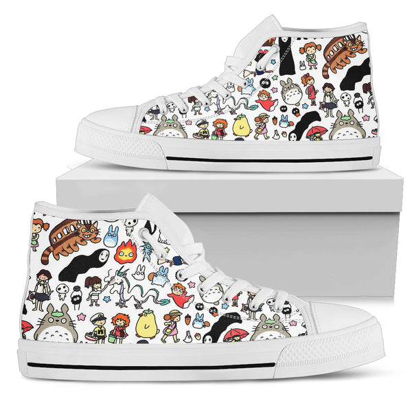 Ghibli doodle high top - Cute Totoro: My Neighbor Totoro