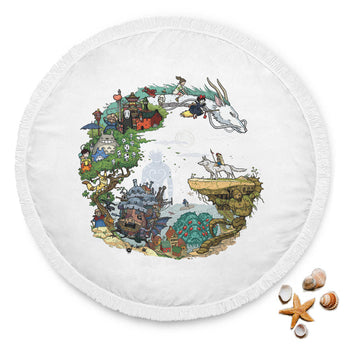 Ghibli Beach Blanket - Cute Totoro: My Neighbor Totoro