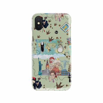 Ghibli Doodle Phone Case For Samsung iPhone - Cute Totoro: My Neighbor Totoro