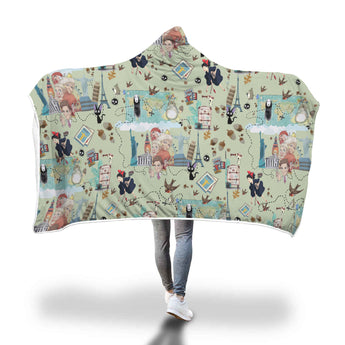 Studio Ghibli Hooded Blanket - Cute Totoro: My Neighbor Totoro