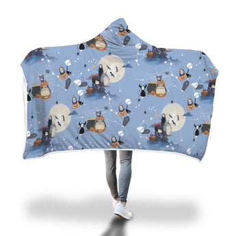 Studio Ghibli Hooded Blanket Halloween - Cute Totoro: My Neighbor Totoro