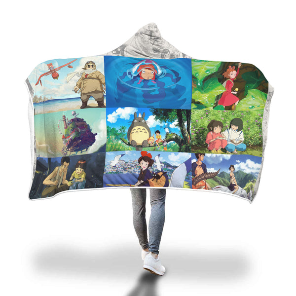 Ghibli Movie Hooded Blanket - Cute Totoro: My Neighbor Totoro