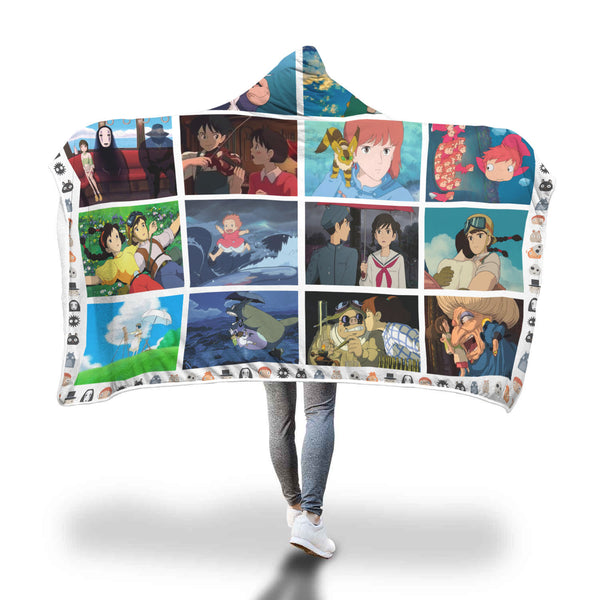 Studio Ghibli Movies Hooded Blanket - Cute Totoro: My Neighbor Totoro