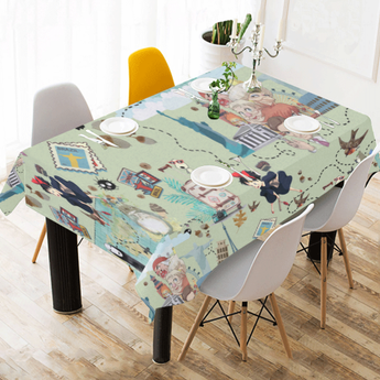 Studio Ghibli Tablecloth Cotton Linen - Cute Totoro: My Neighbor Totoro