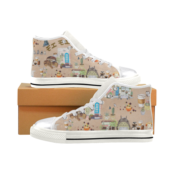 Totoro Shoes High Top Doodle - Cute Totoro: My Neighbor Totoro