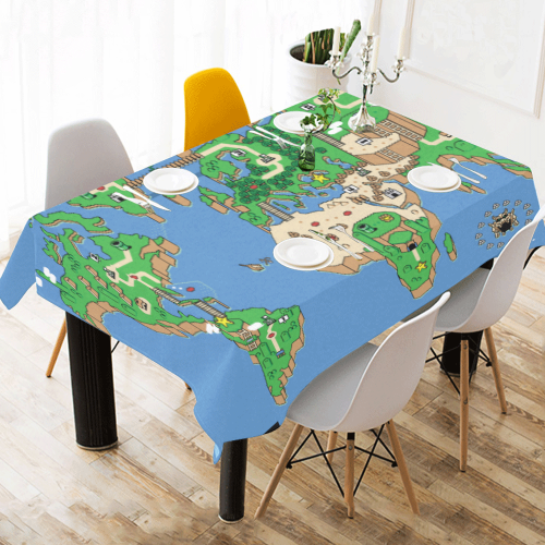 Mario World Map Tablecloth Canvas - Cute Totoro: My Neighbor Totoro