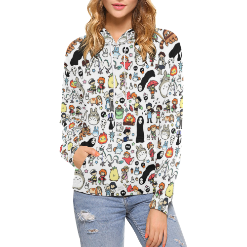 Studio Ghibli Clothing Doodle Hoodie for Women - Cute Totoro: My Neighbor Totoro