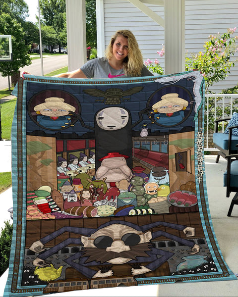 Spirited Away quilt blanket - Cute Totoro: My Neighbor Totoro