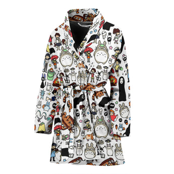 Ghibli Clothing Women's BathRobe - Cute Totoro: My Neighbor Totoro