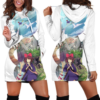 Kiki Women's Hoodie Dress Ghibli Clothing - Cute Totoro: My Neighbor Totoro