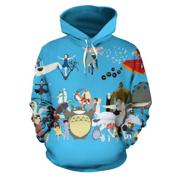 Ghibli in the sky Hoodie - Cute Totoro: My Neighbor Totoro