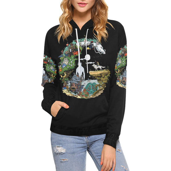 Ghibli Clothing Hoodie for Women - Cute Totoro: My Neighbor Totoro