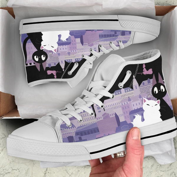 Jiji Women's  High Top Canvas Shoes - Cute Totoro: My Neighbor Totoro