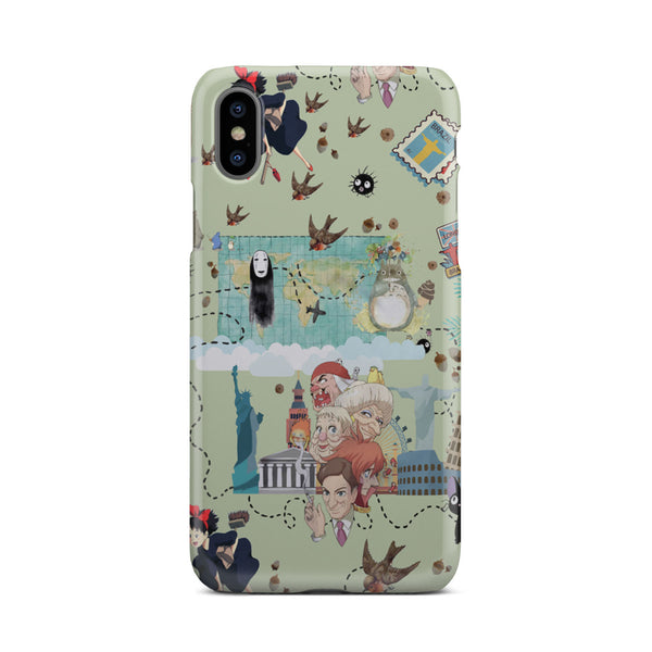 Ghibli Doodle Phone Case For Samsung iPhone