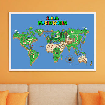 Mario World Map Canvas - Cute Totoro: My Neighbor Totoro