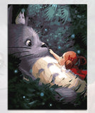 Handmade Picture Painting By Numbers DIY On Canvas - Cute Totoro: My Neighbor Totoro