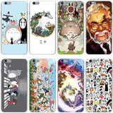 Totoro phone case for iPhone 7 7 Plus 6 6S Plus 5 5S SE 5C 4 4S - Cute Totoro: My Neighbor Totoro