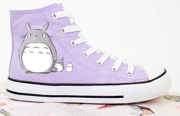 Shoes Sneakers Totoro Handmade Painting On Canvas - Cute Totoro: My Neighbor Totoro